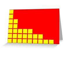 Series:27 episode 2 in red and yellow Greeting Card