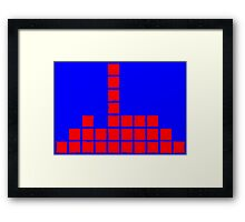 Series:27 episode 3 in blue and red Framed Print