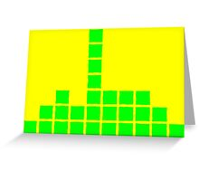 Series:27 episode 3 in yellow and green Greeting Card