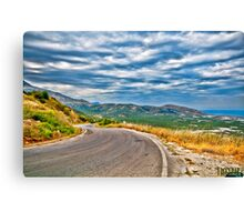 The road to the Beach Canvas Print