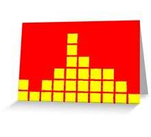 Series:27 episode 4 in red and yellow Greeting Card