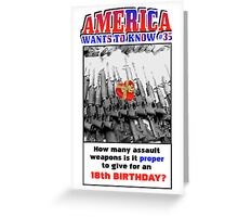America Wants To Know #35 Greeting Card