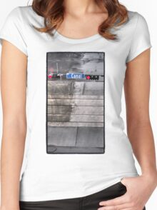 Canal in the Rain Women's Fitted Scoop T-Shirt