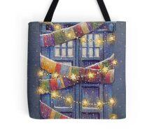 Doctor Who Christmas Tardis  Tote Bag