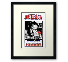 America Wants To Know #126 Framed Print