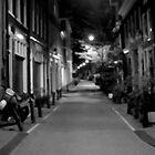 Amsterdam street, a blurry evening by Justin Clark