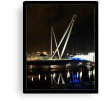 Newport City Footbridge Canvas Print