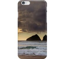 sunset at holywell bay, newquay UK iPhone Case/Skin