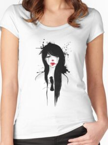 Clown girl II Women's Fitted Scoop T-Shirt