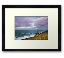 Wheal Coates tin mine Cornwall Framed Print