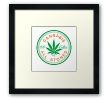 Cannabis Logorythm Framed Print