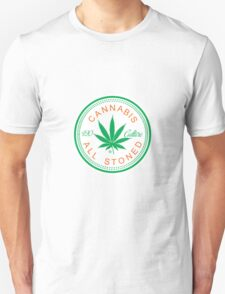 Cannabis Logorythm Unisex T-Shirt