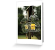 Wire Lanterns Greeting Card