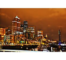 Structures of Illumination - A Night in Seattle Photographic Print