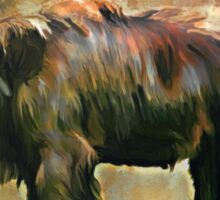 European bison(Poland) Sticker