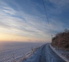 Snowy morning - near York, North Yorkshire by Matthew King