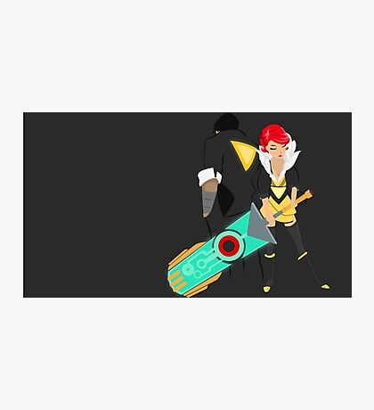 Red and her Transistor Photographic Print