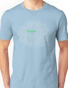 Abstract Text Design 1 Unisex T-Shirt