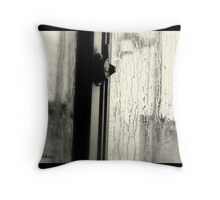The first drops of rain. Throw Pillow