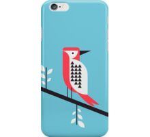 Woodpecker in blue iPhone Case/Skin