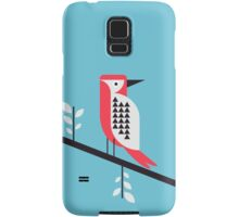 Woodpecker in blue Samsung Galaxy Case/Skin