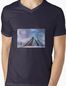 Lost in Time Mens V-Neck T-Shirt