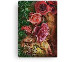 Background with flowers . Canvas Print
