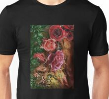 Background with flowers . Unisex T-Shirt
