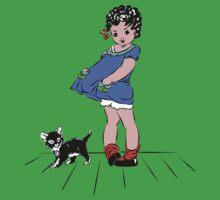 Girl with kitten Baby Tee