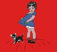 Girl with kitten One Piece - Short Sleeve
