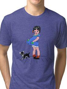 Girl with kitten Tri-blend T-Shirt
