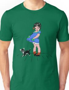 Girl with kitten Unisex T-Shirt