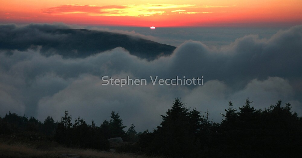 Cadillac Mountain Sunset - Acadia by Stephen Vecchiotti