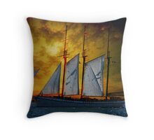 Sunset Sail  Throw Pillow