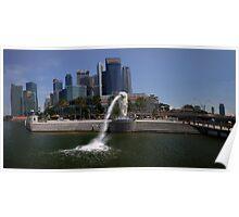 Merlion  Singapore Poster