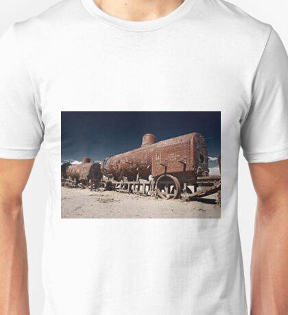 train cemetery at  Salar de Uyuni Unisex T-Shirt