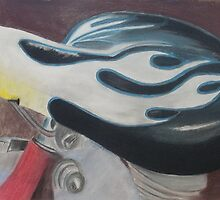 """Hot Seat - Pastel on paper 18"""" X 24"""" $150 unframed by Claudia Goodell"""