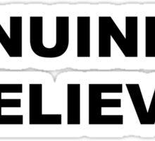 Genuinely Believe - Black Text Sticker