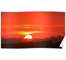 Fiery Sunset Poster