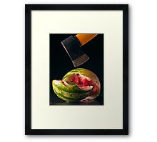 I Hate Fruit - Watermelon Framed Print