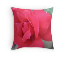 Dimante Red Rose Throw Pillow