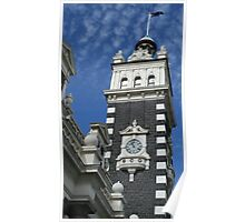 Dunedin Railway Station Clock Tower, New Zealand. Poster