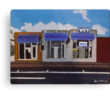 Blue Awnings Canvas Print