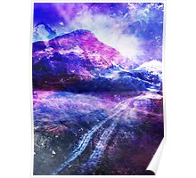 Abstract Mountain Landscape Poster