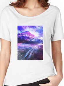 Abstract Mountain Landscape Women's Relaxed Fit T-Shirt