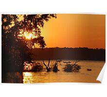 Summer Sunsets - Berlin Lake, Ohio Poster