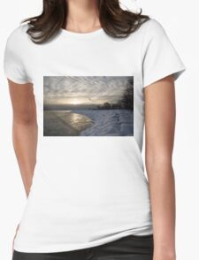 Cold, Moody and Fabulous - a Winter Morning on the Lake Shore Womens Fitted T-Shirt