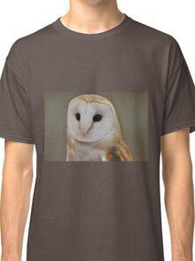 Barn Owl Portrait Classic T-Shirt