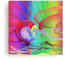 Be Happy -  Abstract35 Art + Products Design  Canvas Print