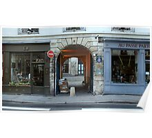 Two Parisian Shops and a Laneway Poster
